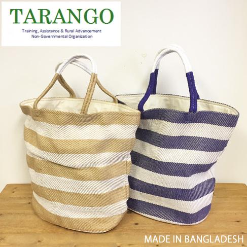 引出物 sale 大人カジュアルに 天然素材のかごバック 即納 SALE TARANGO タランゴ ボーダージュートトートバッグ AB-936 あみあみ 麻 フェアートレード かごバッグ