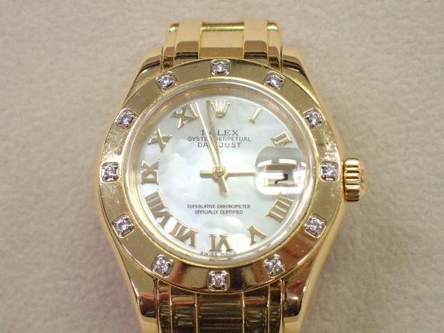 【中古B/標準】ROLEX ロレックス デイトジャスト デイトジャストパールマスター 80318NR K番 レディース 腕時計  20213971