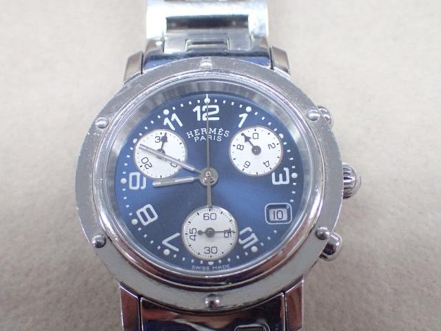 【中古B/標準】HERMES エルメス クリッパー クロノ CL1.310 QZ レディース 腕時計  20216068