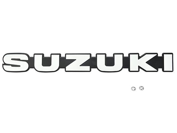 スズキ純正 送料無料 ジムニー JA11 完売 1型 SUZUKI エンブレム フロント ナット付 マーク セール特価 サイズ約29.6cm×3.5cm 77811-83001-8GS 流用にも ラジエーターグリル
