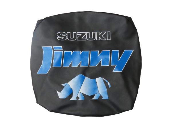 スズキ 純正 ジムニー ソフト スペア タイヤカバー 99006-83503-000 jimny ブルーロゴ ブラック サイ リア ホイール カバー