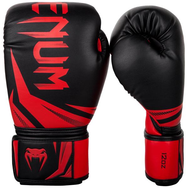 ボクシンググローブ【Venumベノム チャレンジャー3.0】黒色/赤 12オンス・14オンス・16オンス /ヴェヌム/ベヌム