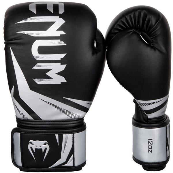 ボクシンググローブ Venumベノム チャレンジャー3.0 黒色 送料無料お手入れ要らず 銀 12オンス ベヌム 激安特価品 14オンス 16オンス ヴェヌム