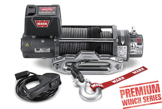 WARN ウォーン 電動 ウインチ M8S シンセティックロープ M8000S (8000ポンド) ウオーン