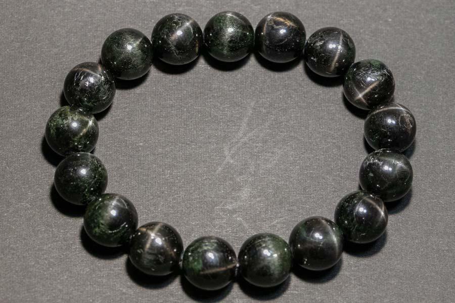 ブラックスター ダイオプサイト ブレスレット 粒径12mm 透輝石 パワーストーン 天然石 原石