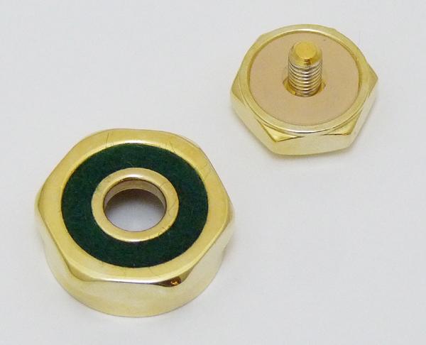 Schilke トランペット用 本物◆ 純正 トップキャップ用 上質 フェルト セット 1個 緑 ×シリコンパッド