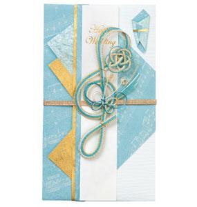 在庫一掃売り切りセール ご祝儀袋 奏 ブルー 祝開店大放出セール開催中 3枚セット KBU SGB-48