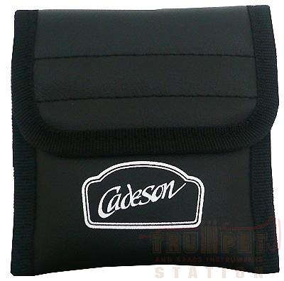 最終処分特価 Cadeson トランペット用 2本用 低廉 商品追加値下げ在庫復活 マウスピースポーチ 合皮