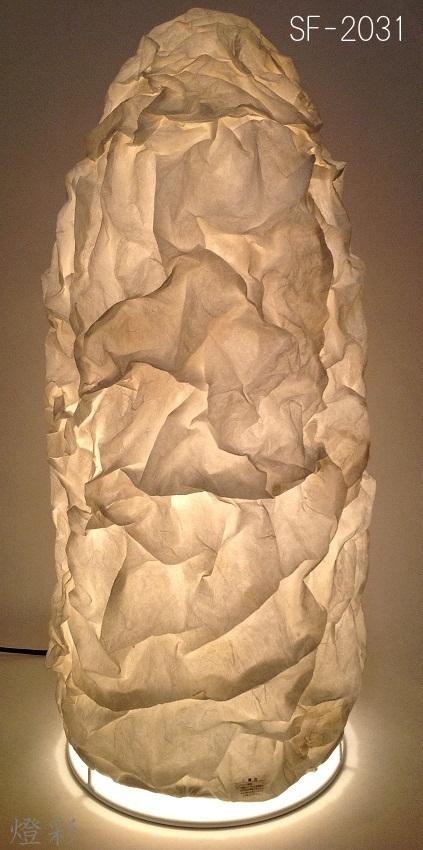 彩光デザイン 和紙 照明 フロアライト 1灯 白 しろ ホワイト white おしゃれ かわいい 上品 しわ ボール SF-2031 WH