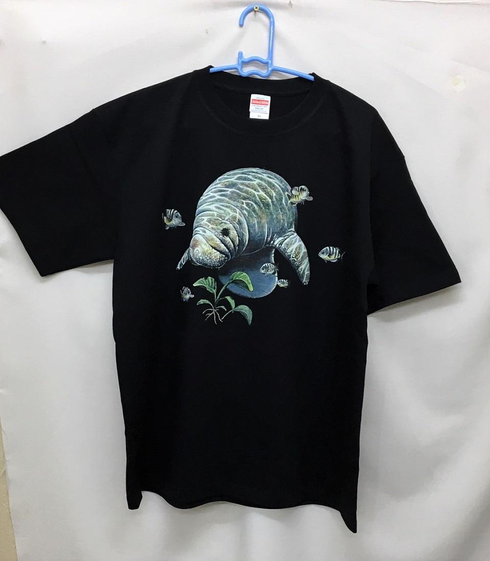 マナティー柄の半袖Tシャツです。(NO.1)海獣/ギフト/プレゼント/オーナーグッズ/プリント