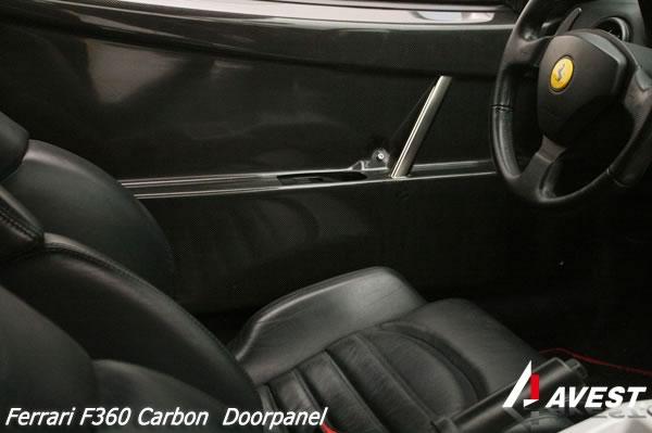 フェラーリ F360 ドアパネル Ferrari パーツ ドア パネル カーボン チャレスト look AVEST 交換[車用品 カー用品 カスタム カスタマイズ パーツ 部品 made in japan 日本製 diy 360]