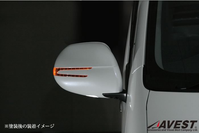 Jackparts  Unpainted Hiace 200 Series Door Mirror Turn