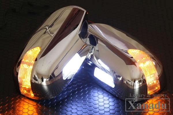 陸地巡洋艦 100 系列後視鏡轉向燈土地巡洋艦 100 轉向信號覆蓋 LED 天鵝早後結束世外桃源檢驗為真正的更換鉻鍍在亞馬遜 AVEST [溫克鏡子門鏡子汽車用品自訂自訂零件] 郵購