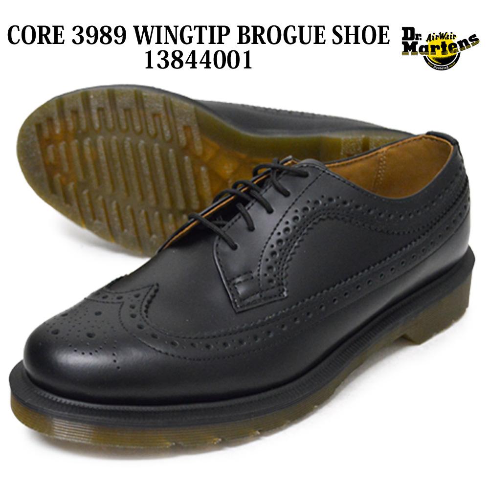 Dr.Martens ドクターマーチン 13844001 CORE 3989 WINGTIP BROGUE SHOE コア 3989 ウィングチップ ブローグ シューズ ユニセックス メンズ レディース ローカットシューズ レースアップ 紐靴 皮靴 男女兼用 プレゼント