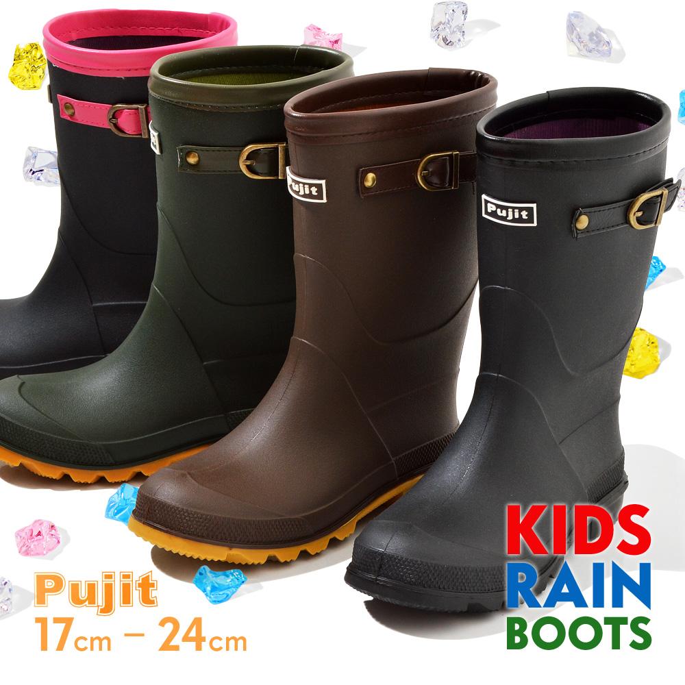 プジット レインシューズ キッズ Rain Boots レインブーツ 長靴 雪 雨 R-826 卸直営 Pujit 国産品
