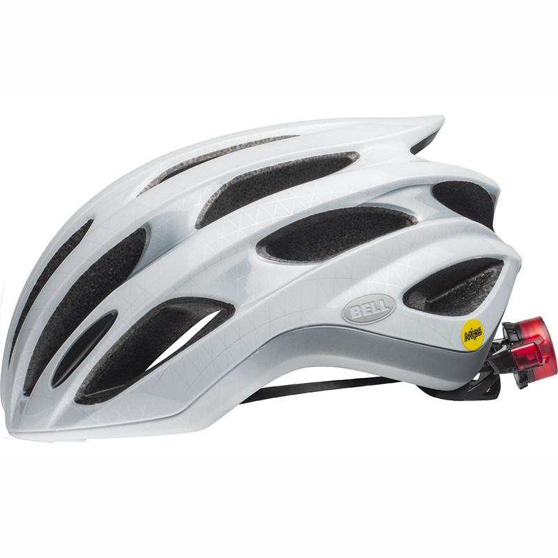 送料無料 BELL(ベル) ヘルメット ロードレース フォーミュラ LED ミップス ホワイト/シルバー M 19