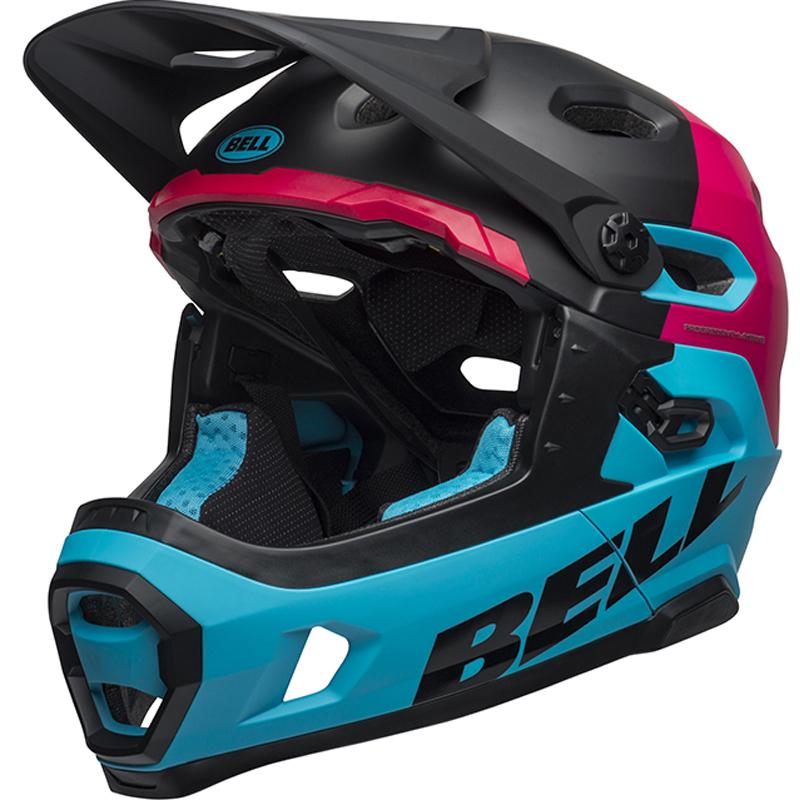 送料無料 BELL(ベル) ヘルメット マウンテンバイク スーパー DH ミップス ブラック/ベリー/ブルー L 19