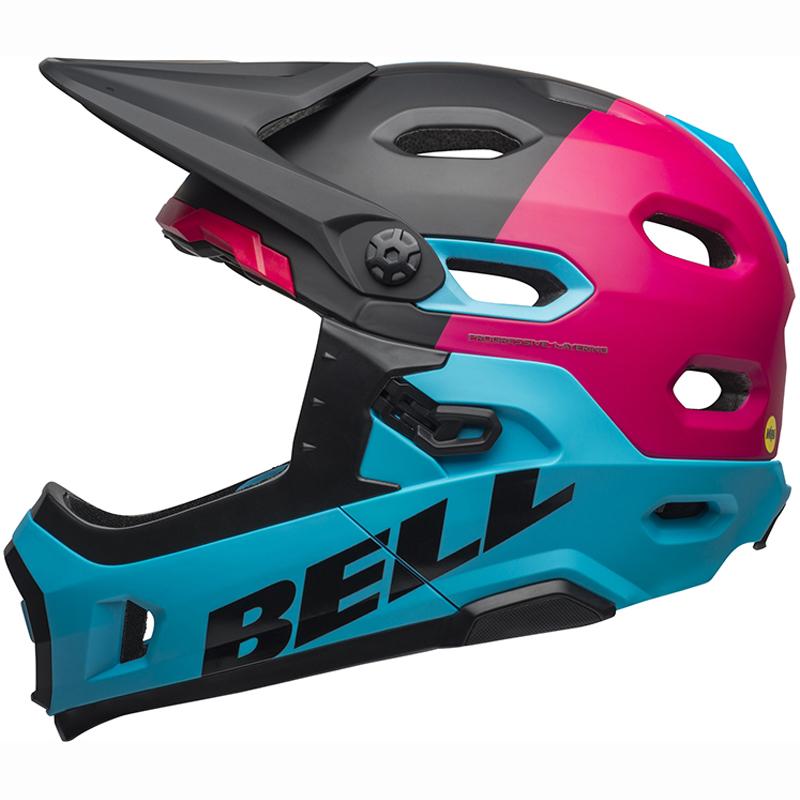 送料無料 BELL(ベル) ヘルメット マウンテンバイク スーパー DH ミップス ブラック/ベリー/ブルー M 19
