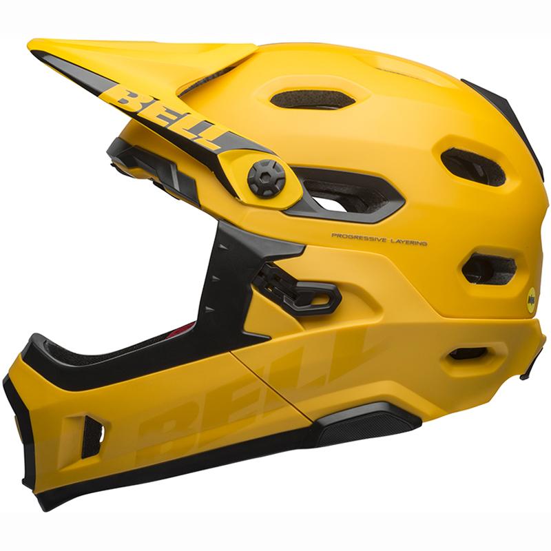 送料無料 BELL(ベル) ヘルメット マウンテンバイク スーパー DH ミップス イエロー/ブラック M 19