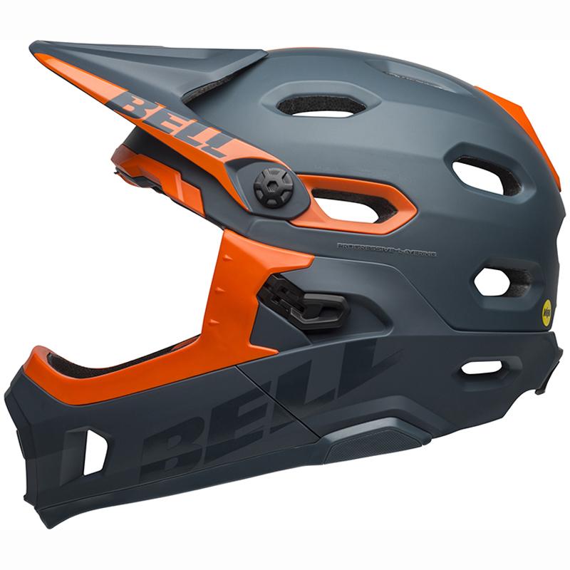 送料無料 BELL(ベル) ヘルメット マウンテンバイク スーパー DH ミップス スレート/オレンジ L 19