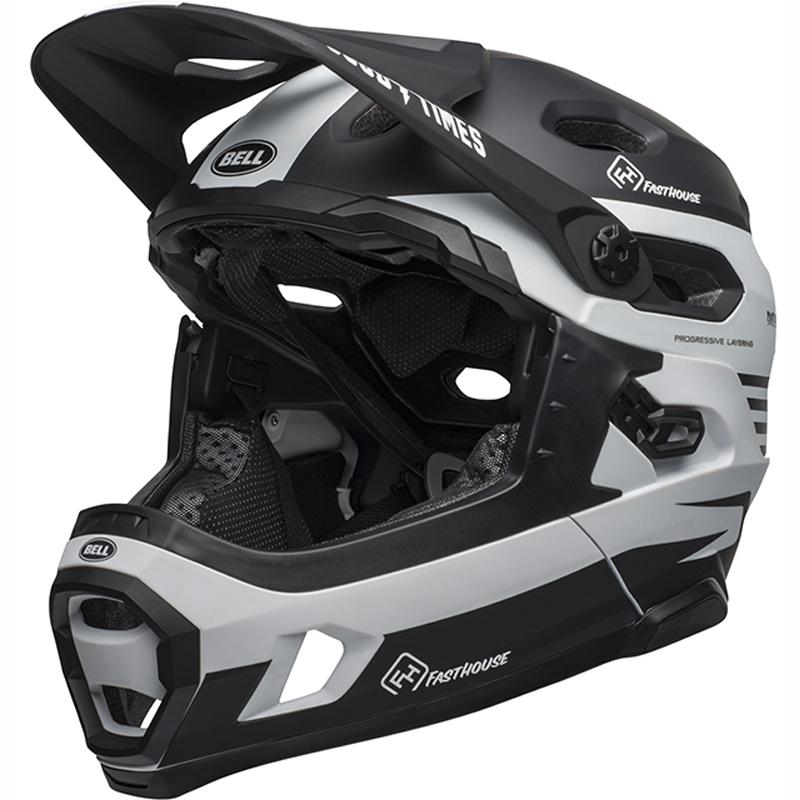送料無料 BELL(ベル) ヘルメット マウンテンバイク スーパー DH ミップス ブラック/ホワイト ファストハウス M 19