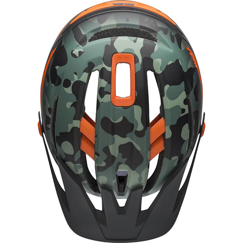 送料無料 BELL(ベル) ヘルメット マウンテンバイク シクサー ミップス ブラック/ダークグリーン/オレンジM 19
