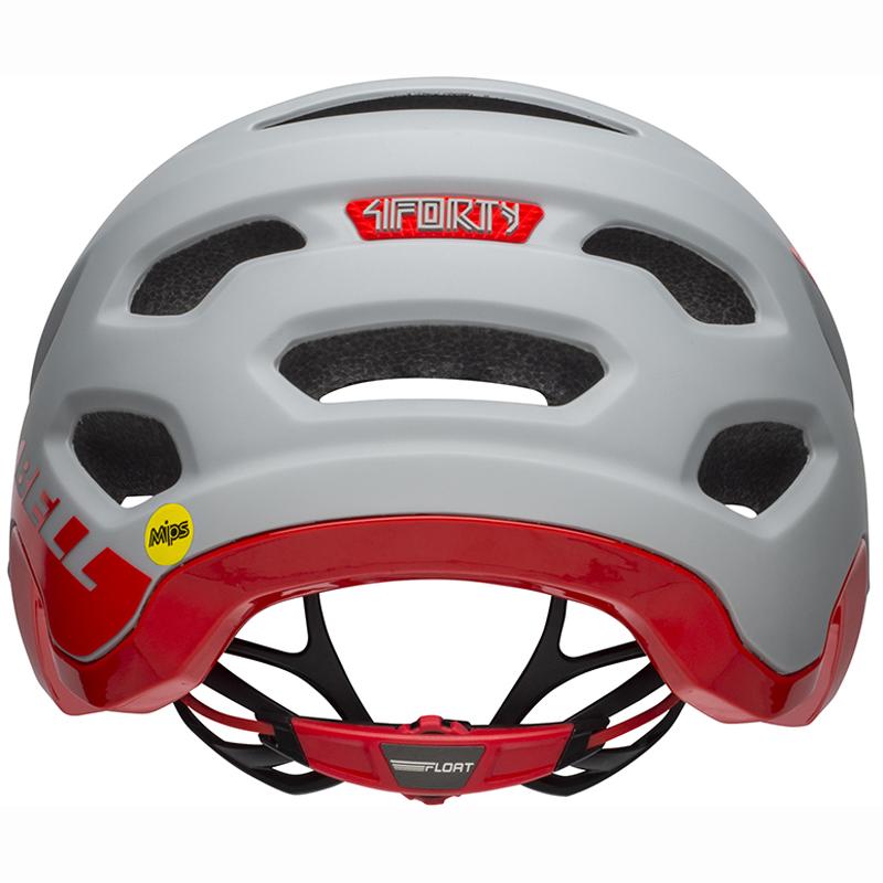 送料無料 BELL(ベル) ヘルメット マウンテンバイク 4フォーティー ミップス グレー/クリムゾン XL 19