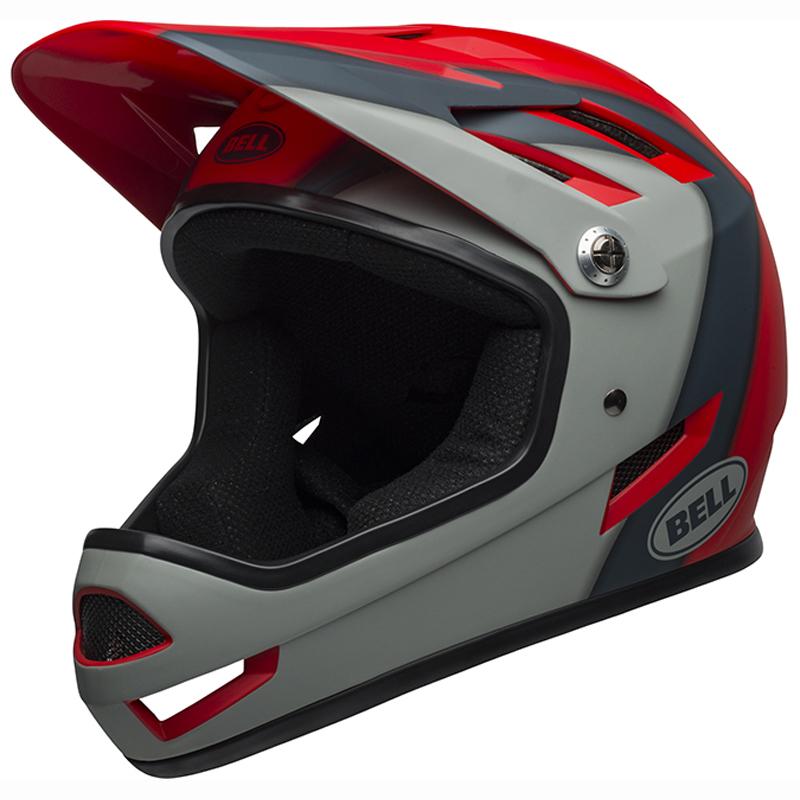 送料無料 BELL(ベル) ヘルメット マウンテンバイク サンクション マット クリムゾン/スレート/グレー M 19