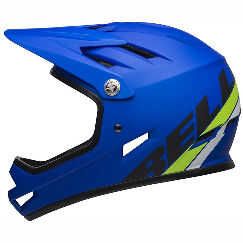 送料無料 BELL(ベル) ヘルメット マウンテンバイク サンクション マット ブルー/ブライトグリーン L 19