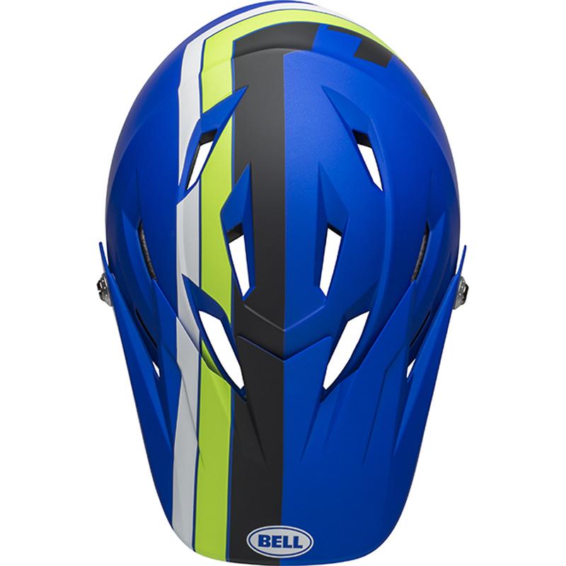 送料無料 BELL(ベル) ヘルメット マウンテンバイク サンクション マット ブルー/ブライトグリーン M 19
