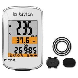 送料無料 BRYTON(ブライトン) GPSサイクルコンピューター Rider One C ケイデンスセンサー付 ホワイト
