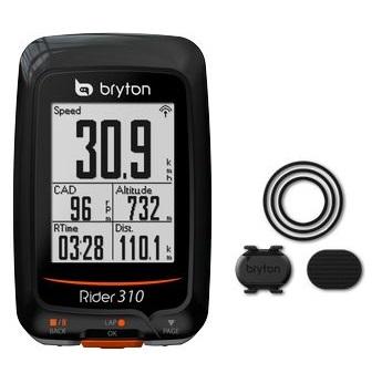 送料無料 BRYTON(ブライトン) GPSサイクルコンピューター Rider310C ケイデンスセンサー付