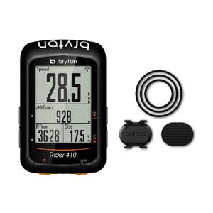 送料無料 BRYTON(ブライトン) GPSサイクルコンピューター Rider410C ケイデンスセンサー付