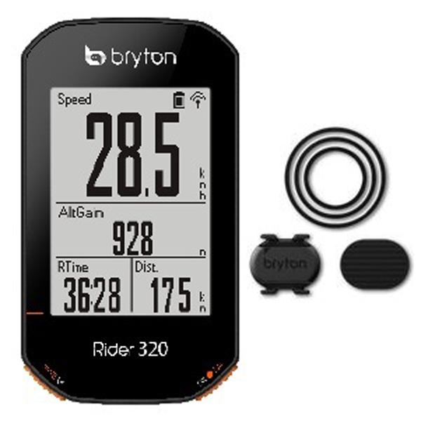 通販 送料無料でお届けします 市場老舗の店 1999年から出店 メーカー純正品 OUTLET SALE 正規代理店品 BRYTON ブライトン Rider320C 自転車用品 GPSサイクルコンピューター ケイデンスセンサー付