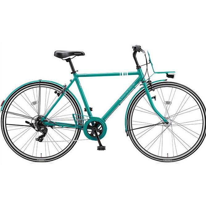 即納可能 ブリヂストングリーンレーベル クロスバイク マークローザ(MarkRosa) 7H ホリゾンタル MRH77T E.Xコバルトグリーン 【2017年モデル】【完全組立済自転車】