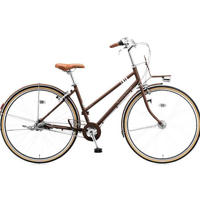 ブリヂストングリーンレーベル シティサイクル マークローザ(MarkRosa) 3S スタッガード MRS73T E.Xビターブラウン 【2017年モデル】【完全組立済自転車】