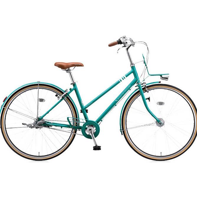 ブリヂストングリーンレーベル シティサイクル マークローザ(MarkRosa) 3S スタッガード MRS73T E.Xコバルトグリーン 【2017年モデル】【完全組立済自転車】