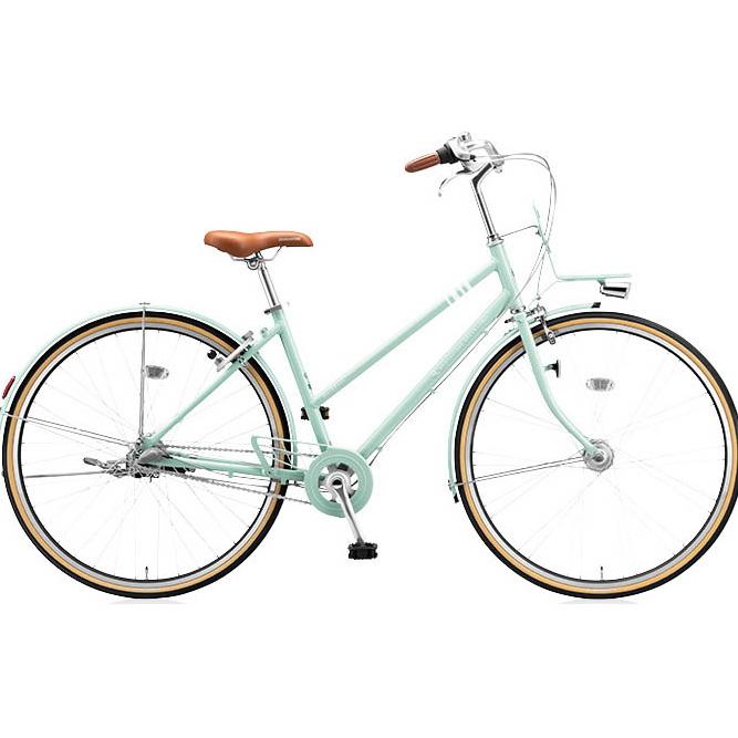 ブリヂストングリーンレーベル シティサイクル マークローザ(MarkRosa) 3S スタッガード MRS73T E.Xグレイッシュミント 【2017年モデル】【完全組立済自転車】