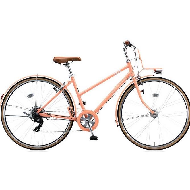 ブリヂストングリーンレーベル クロスバイク マークローザ(MarkRosa) 7S スタッガード MRS77T E.Xサニーピンク 27インチ 【2017年モデル】【完全組立済自転車】
