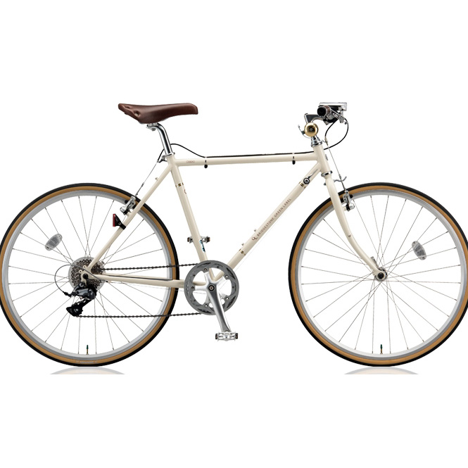ブリヂストン クロスバイク クエロ(CHERO) 650F CHF648 E.Xクリームアイボリー 【2018年モデル】【完全組立済自転車】