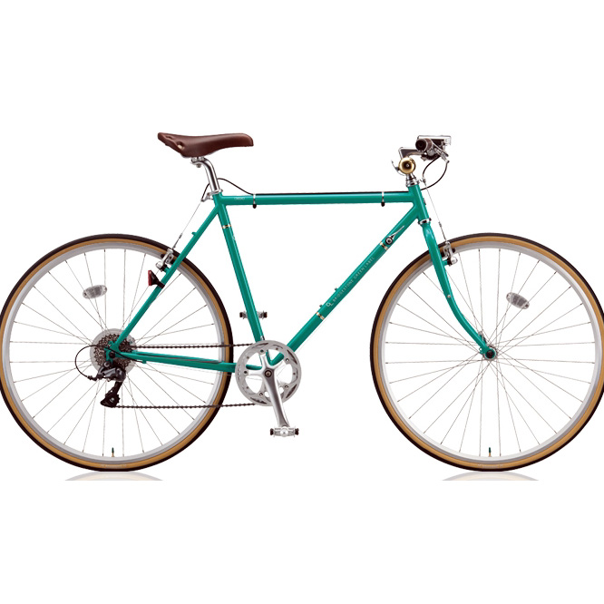 ブリヂストン クロスバイク クエロ(CHERO) 700F CHF751/CHF754 E.Xコバルトグリーン 【2018年モデル】【完全組立済自転車】