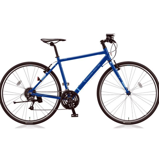 【防犯登録サービス中】ブリヂストングリーンレーベル クロスバイク CYLVA(シルヴァ) F24 VF2439/VF2444/VF2449/VF2454 F.Xソリッドブルー 【2018年モデル】【完全組立済自転車】