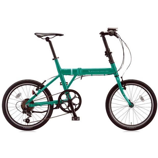 ブリヂストングリーンレーベル 折りたたみ自転車 CYLVA(シルヴァ) F VF6F20 E.Xコバルトグリーン 20サイズ 【2018年モデル】【完全組立済自転車】