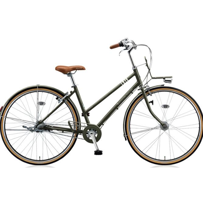 【防犯登録サービス中】ブリヂストン シティサイクル マークローザ 3S MR73ST T.Xマットカーキ 【2018年モデル】【完全組立済自転車】