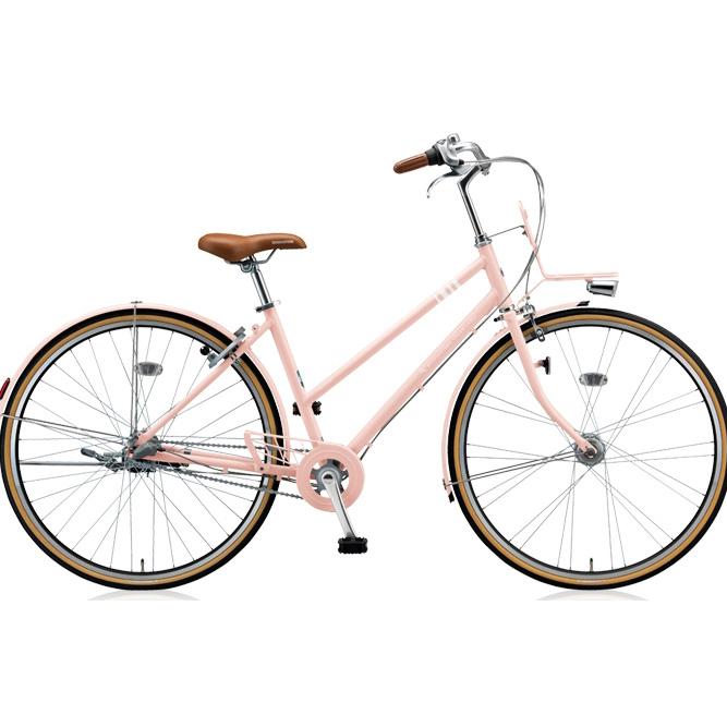 【防犯登録サービス中】ブリヂストン シティサイクル マークローザ 3S MR73ST E.Xサンドピンク 【2018年モデル】【完全組立済自転車】