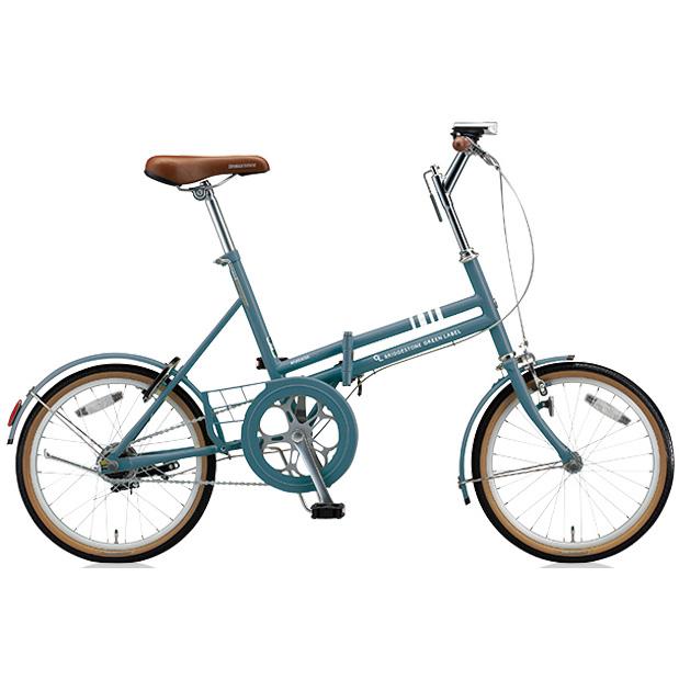 ブリヂストン 折りたたみ自転車 マークローザ F MRF81 T.Xグリーンアッシュ 変速なし 【2018年モデル】【完全組立済自転車】