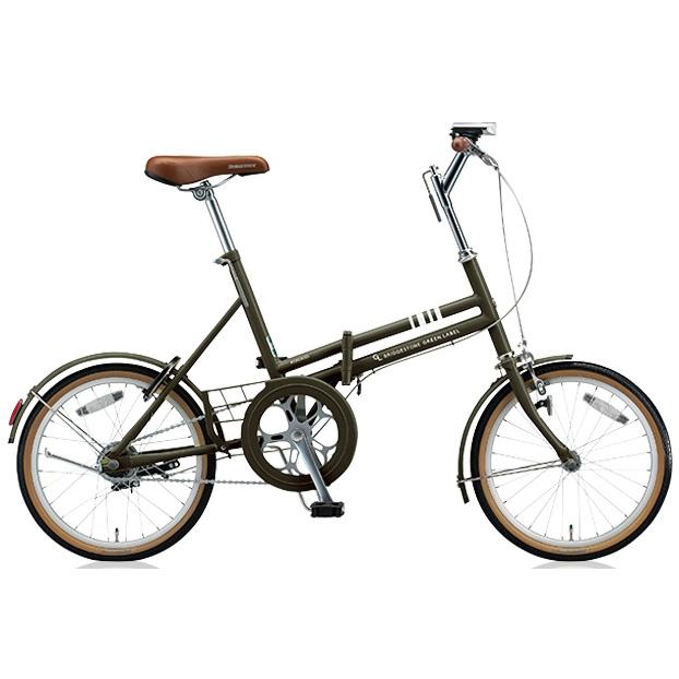 ブリヂストン 折りたたみ自転車 マークローザ F MRF81 T.Xマットカーキ 変速なし 【2018年モデル】【完全組立済自転車】