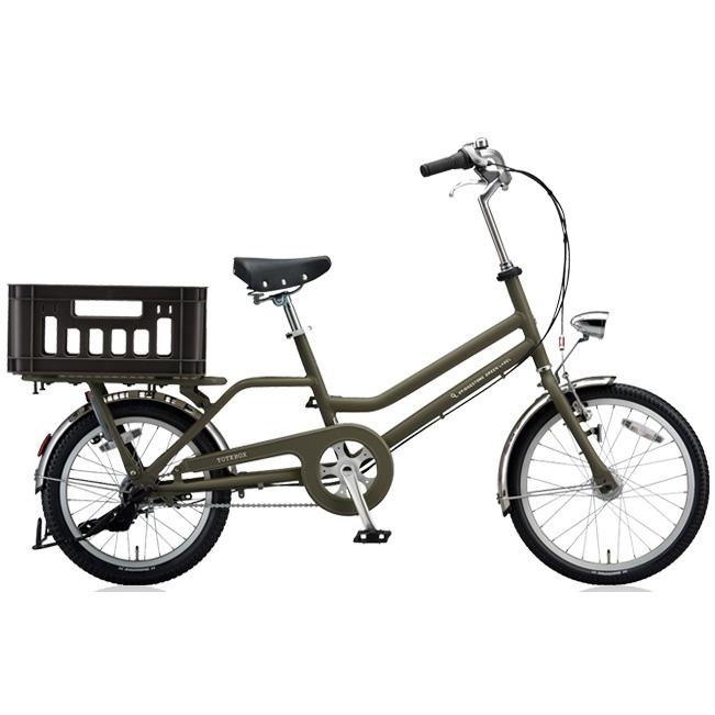 ブリヂストン シティサイクル トートボックス(TOTEBOX) TBX03T T.Xマットカーキ 【2018年モデル】【完全組立済自転車】
