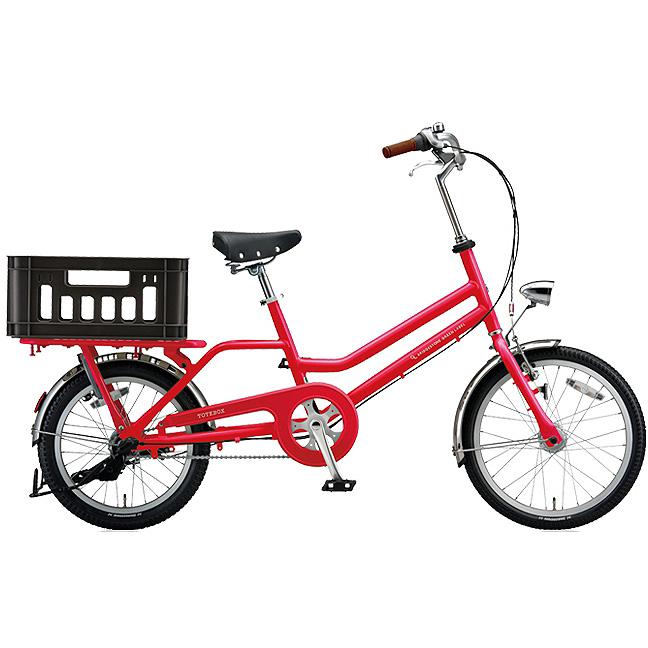ブリヂストン シティサイクル トートボックス(TOTEBOX) TBX03T F.Xアクティブレッド 【2018年モデル】【完全組立済自転車】