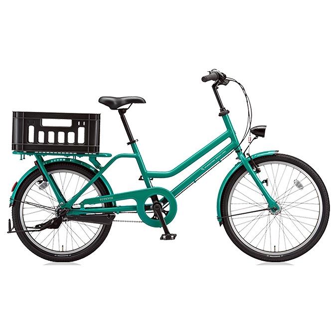 ブリヂストン シティサイクル トートボックス(TOTEBOX) TBX43T E.Xコバルトグリーン 【2018年モデル】【完全組立済自転車】